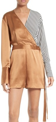 Women's Diane Von Furstenberg Asymmetrical Romper $398 thestylecure.com