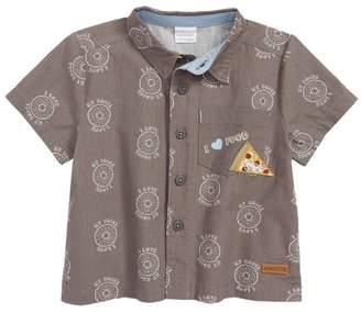 Robeez R) I Love My Bagel Woven Shirt (Baby Boys)