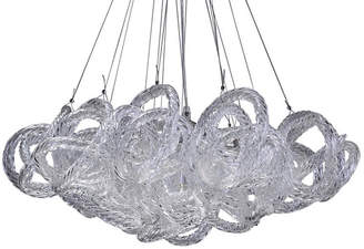 "Viz Glass 18"" Infinity 5-Light Chandelier - Clear"