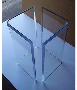 "clear Southeast Florida Acrylic ""V's"" or Boomerang DINING TABLE BASES (2 Lucite Plexiglass 29"" high"