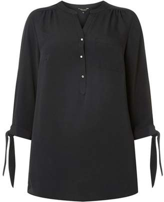 Dorothy Perkins Womens **DP Curve Black 3/4 Sleeve Shirt