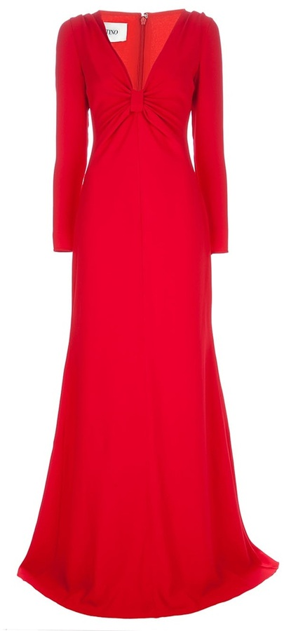 Valentino plunging v-neck gown
