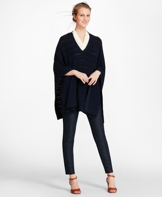 Brooks Brothers Cable-Knit Merino Wool Poncho