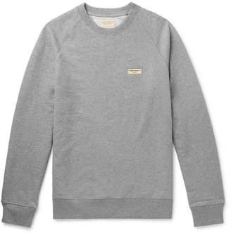 Nudie Jeans Samuel Logo-Appliqued Organic Loopback Cotton-Jersey Sweatshirt - Men - Gray