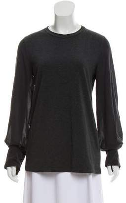 Brunello Cucinelli Long Sleeve Jersey Top