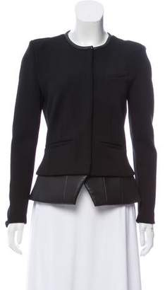 IRO Structured Leather-Trimmed Jacket
