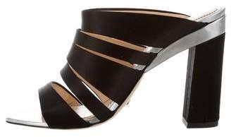 Jerome C. Rousseau Satin Slide Sandals w/ Tags
