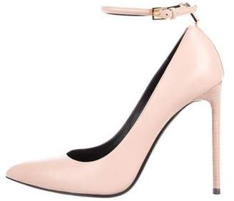 Tom Ford Leather Ankle Strap Pumps