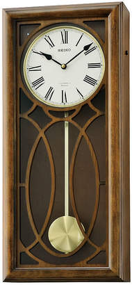 Seiko Brown Wooden Wall Clock With Pendulum AndMelodies Brown Clock Qxm343blh