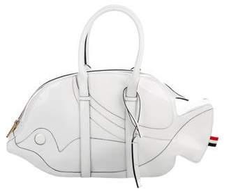 Thom Browne Fish Pattern Handle Bag