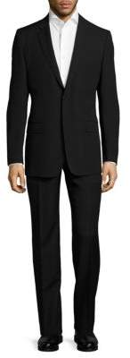 Versace Classic Fit Solid Wool Suit