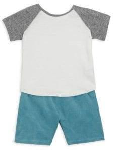Baby's & Toddler's Two Piece Cotton Raglan Tee & Shorts Set