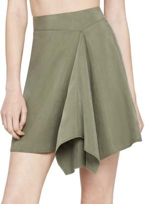BCBGeneration Asymmetrical Faux-Wrap Mini Skirt