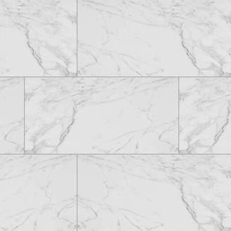 "MSI Carrara 12"" x 24"" Porcelain Field Tile in White"
