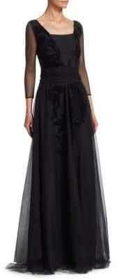 Chiara Boni Women's Elise Illusion Gown - Black - Size 38 (2)