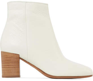 Vince Blakely Textured-leather Ankle Boots - Off-white