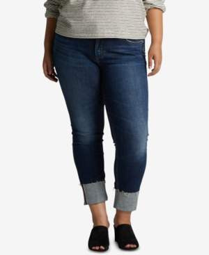 Silver Jeans Co. Plus Size Elyse Cuffed Straight Jeans