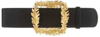 Oscar de la Renta Small Leaf Leather Belt