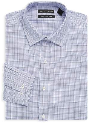 Saks Fifth Avenue Made in Italy Men's Cotton Check Dress Shirt