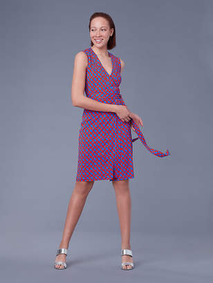 Diane von Furstenberg Sleeveless Yahzi Silk Jersey Wrap Dress