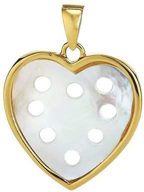 MOP Asha By Ashley Mccormick Petite Heart Pendant