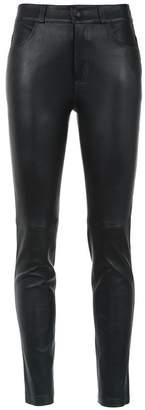 Martha Medeiros leather skinny trousers