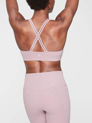 Athleta Hyper Focused Lace Trim Bra In Powervita