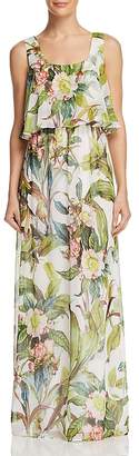 Adrianna Papell Tropical Maxi Dress