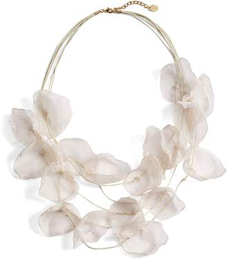 Stella + Ruby Chiffon Flower Statement Necklace