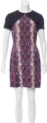 Diane von Furstenberg Printed Mini Dress w/ Tags