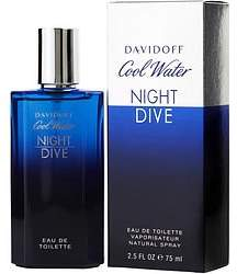 Davidoff Cool Water Night Dive By Edt Spray 2.5 Oz
