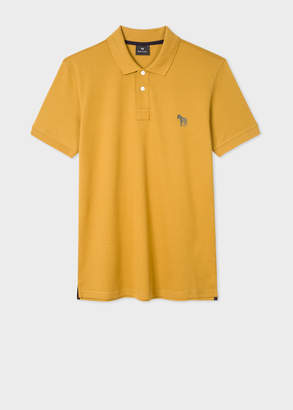 Paul Smith Men's Slim-Fit Mustard Embroidered 'Zebra' Polo Shirt