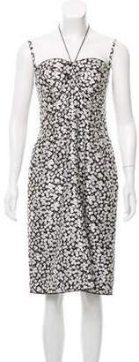 Dolce & Gabbana Silk Floral Print Midi Dress