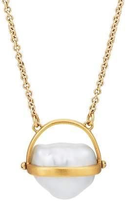 Eli Halili Women's Round Pearl Basket Pendant Necklace