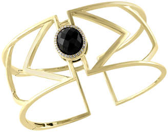 Effy Fine Jewelry 14K 8.02 Ct. Tw. Diamond & Onyx Bangle