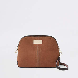 River Island Dark brown kettle cross body bag