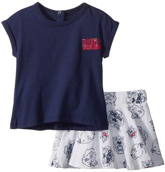 Kenzo Tee Shirt and Skirt Tigers Girl's Active Sets