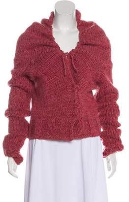 Dries Van Noten Hooded Knit Cardigan