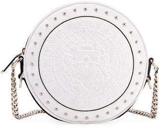 Balmain Disco Leather Circle Crossbody Bag