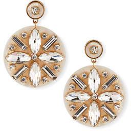BaubleBar Safiya Resin & Crystal Drop Earrings