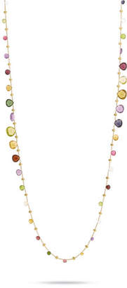 """Marco Bicego Paradise Graduated Long Necklace with Mixed Elevated Gemstones, 36"""""""