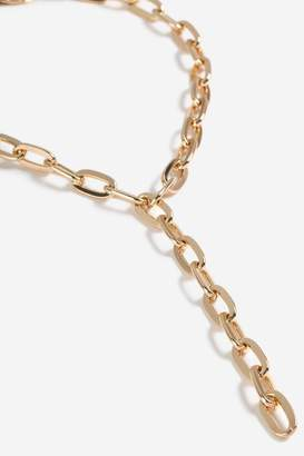 Topshop Chunky Chain Lariat Necklace