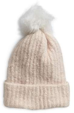 Etereo Ribbed Faux Fur Pom-Pom Toque