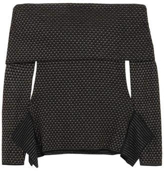 Roland Mouret Ashwell Off-the-shoulder Metallic Wool-blend Sweater - Black