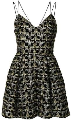 Alice + Olivia Alice+Olivia flared sweetheart neck dress