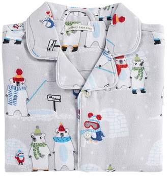 Pottery Barn Kids Icy Polar Bear Loose Fit Pajama, 2T, Size Gray Multi