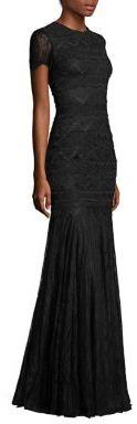ML Monique Lhuillier Lace Mermaid Gown $1,295 thestylecure.com