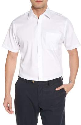 Nordstrom Traditional Fit Non-Iron Solid Short Sleeve Dress Shirt