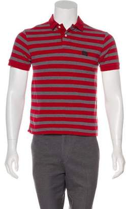 Burberry Logo Appliqué Polo Shirt