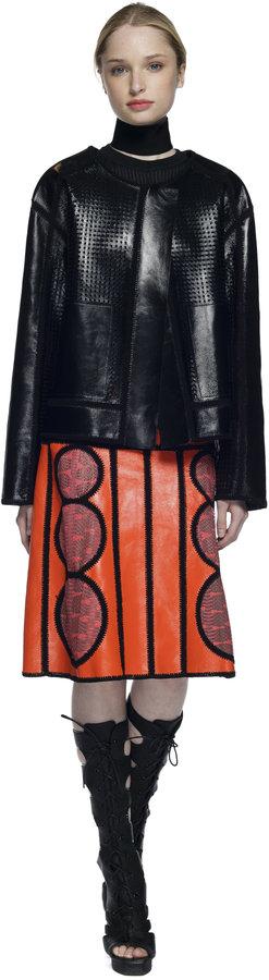 Proenza Schouler Black Crochet Jacket